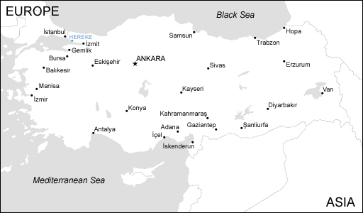 Map of Türkiye